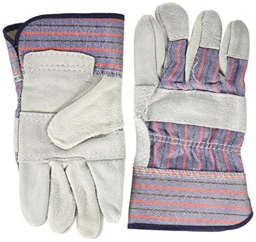 Global Glove 2300-L Economy Shoulder Split Cow Leather Palm Safety Cuff Gunn Cut Work Glove - Economy Shoulder Split Work Gloves