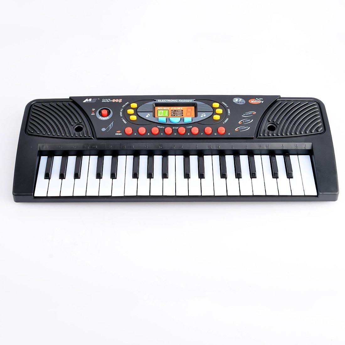 Piano para Niños, Foxom 37 Teclas Electrónico Teclados Piano con Micrófono Piano Juguete…