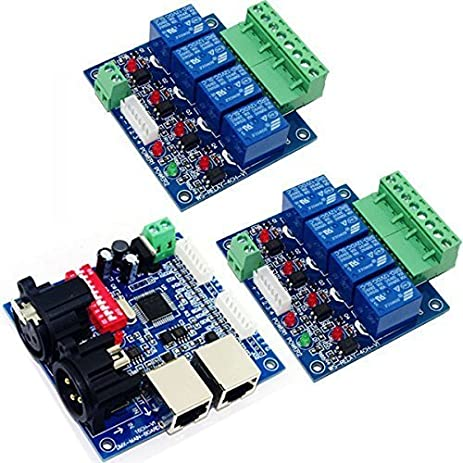 Amazoncom 4 Channel Relay Switch DMX512 Controller Relay Output