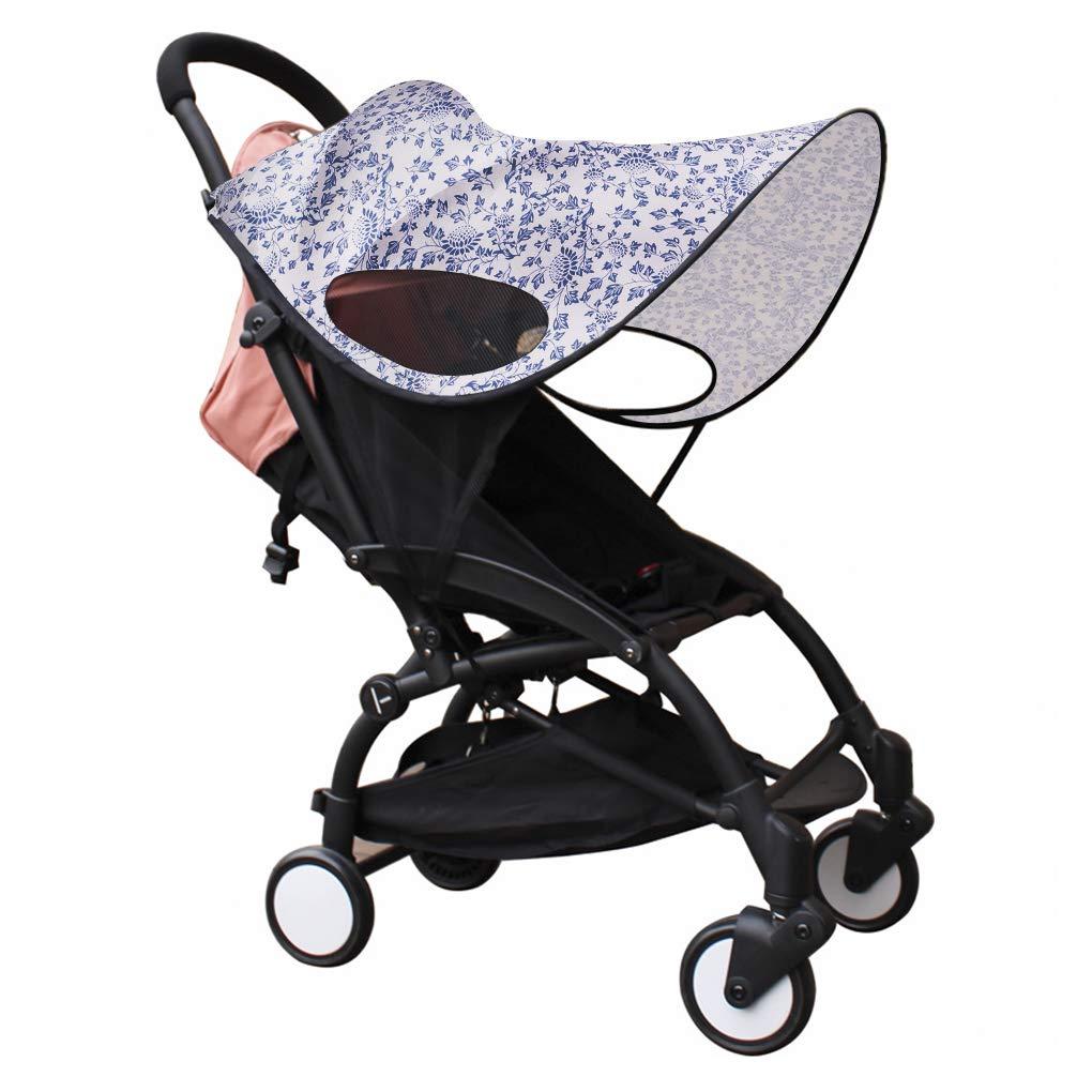Baby Stroller Sun Shade Sun Protection Pram for Strollers Car Seats Pushchair Buggy Sunshade Parasol Sun Rain Canopy Cover Protection Stroller Accessories Awning Anti-UV Umbrella Sun Shade