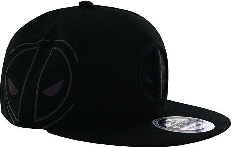 Marvel Deadpool Symbol Side Flect Snapback Gorra De Béisbol