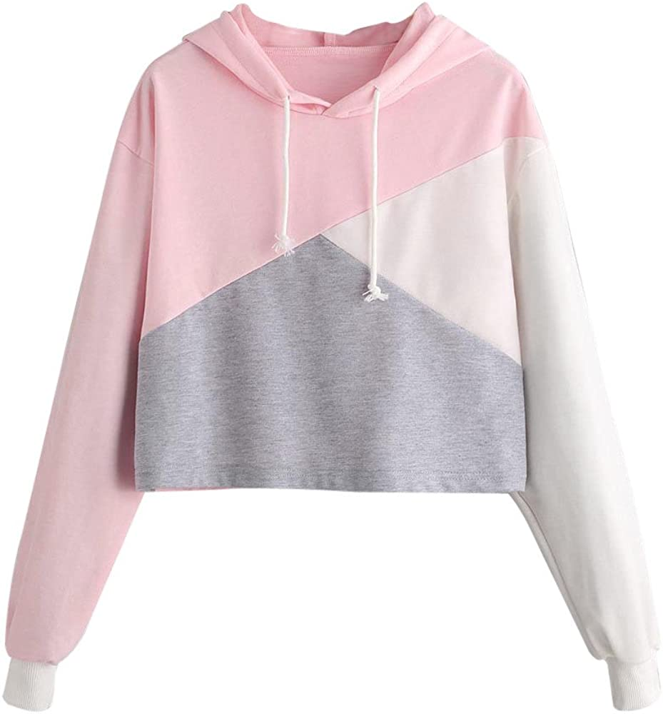 35f714bab164f8 Girls' Hoodie, Misaky 2018 Fashion Parttern Long Sleeve Sweatshirt Pullover  Blouse Jumper (Pink