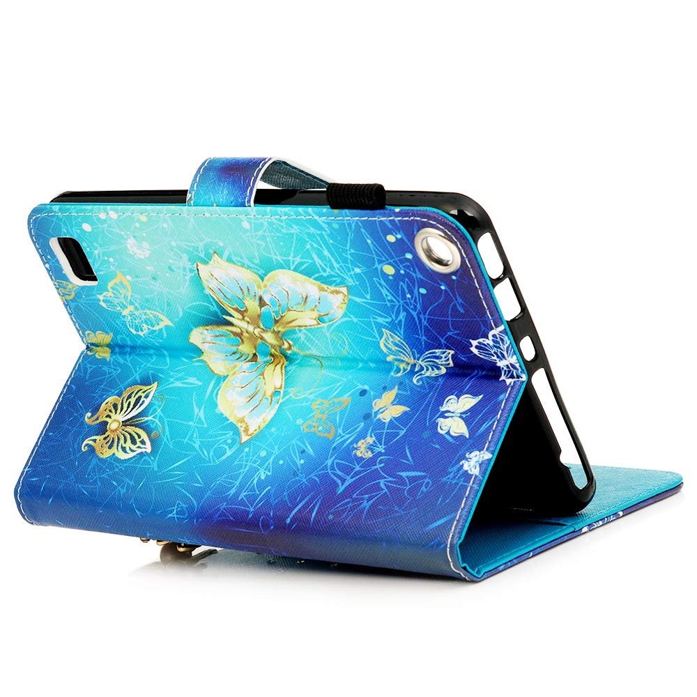 2015//2017 Release Universal 3D Glitter Diamonds Flip Case Stand PU Leather Cover Card Slots with Auto Sleep//Wake for Fire 7,Diamond Owl MOTIKO  Fire 7 2017 Case,Kindle Fire 7 2015 Case