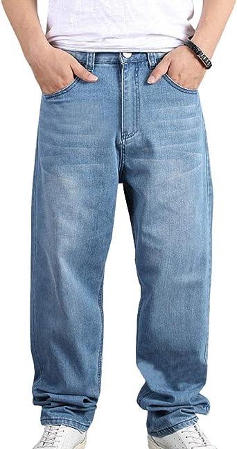 Holgados Pantalones Vaqueros Rectos Hombre Jeans Casual Anchos Modernas Para De La Pierna De Los Pantalones Vaqueros De Los Hombre De Primavera Verano Lavado Multi Bolsillo Del Pantalon De Mezclilla Amazon Es Ropa