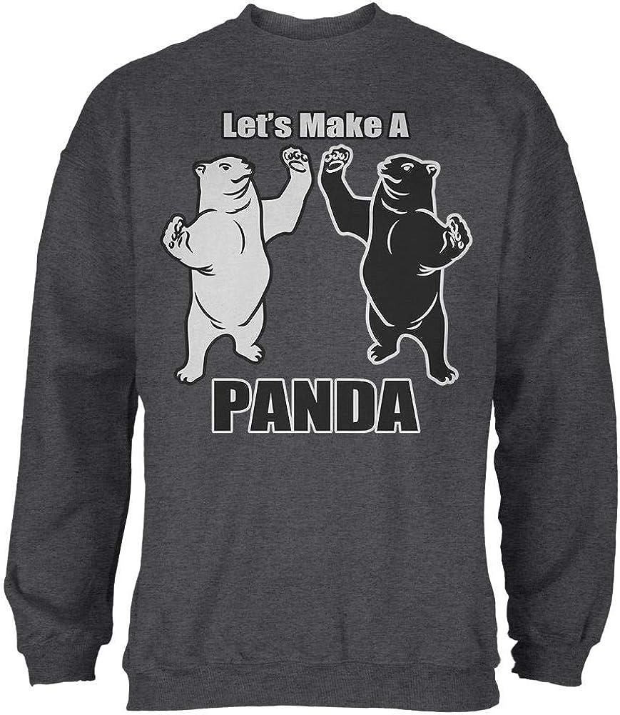 Old Glory Lets Make a Panda Funny Mens Sweatshirt