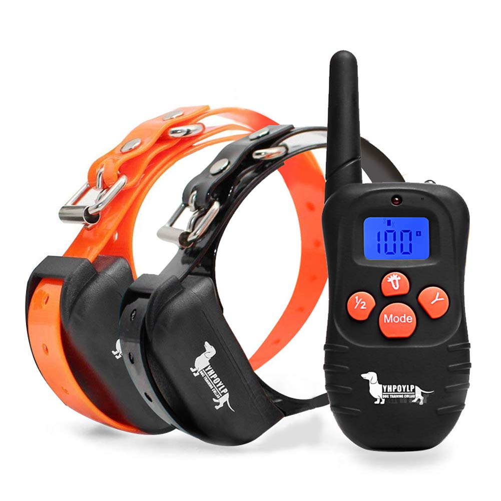 BEHEART Dog Training Collars with Remote, Electric Shock Collars for 2 Dogs