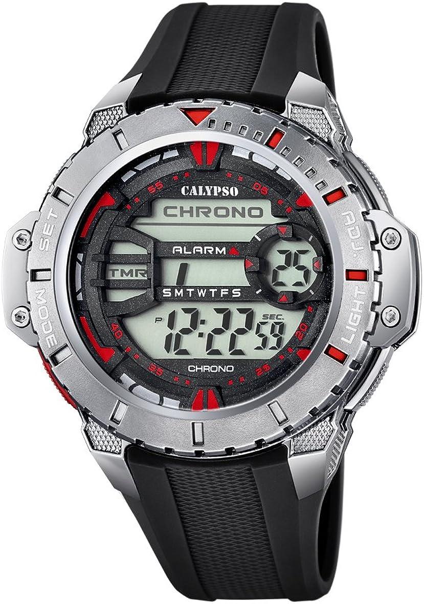 Calypso Watches Reloj Digital para Hombre de Cuarzo con Correa en Caucho K5689_5