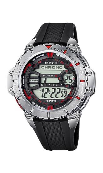 Calypso Watches Reloj Digital para Hombre de Cuarzo con Correa en Caucho K5689_5: Amazon.es: Relojes
