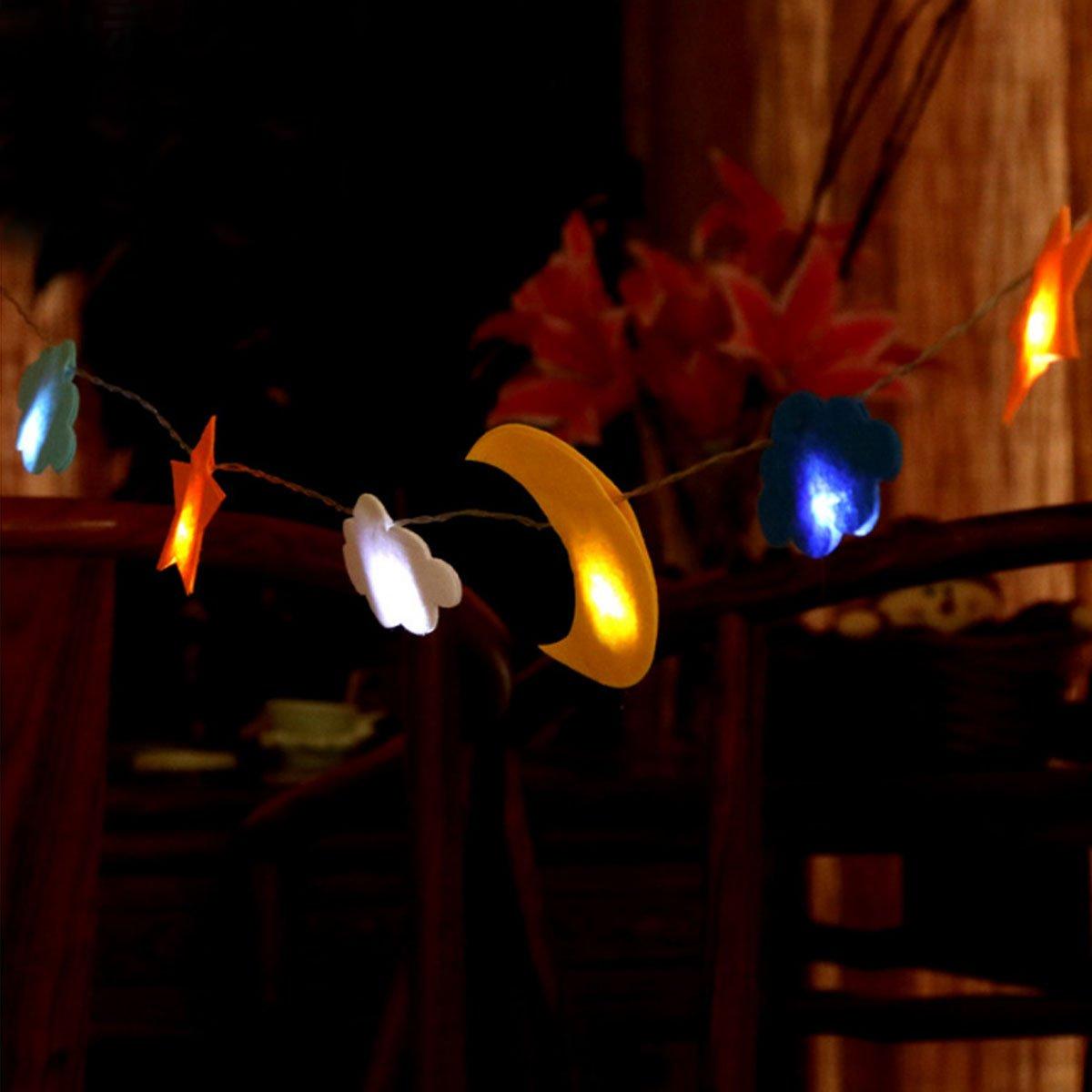 Meliya String Lights 40 LED White Snowflake Fairy Lights Battery Powered Indoor/Outdoor Decorative Lighting