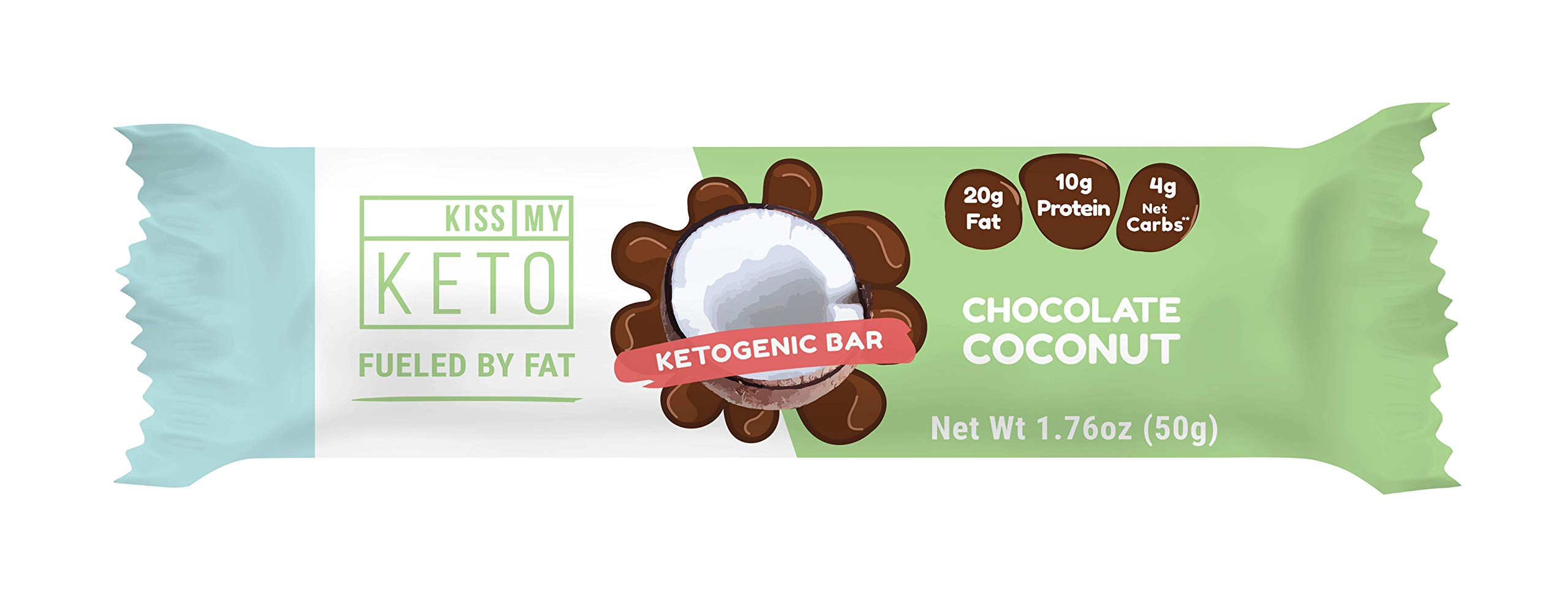 Kiss My Keto Snacks Keto Bars - Keto Chocolate Coconut (3 Pack, 36 Bars), Nutritional Keto Food Bars, Paleo, Low Carb/Glycemic Keto Friendly Foods, All Natural On-The-Go Snacks, 4g Net Carbs by Kiss My Keto (Image #4)