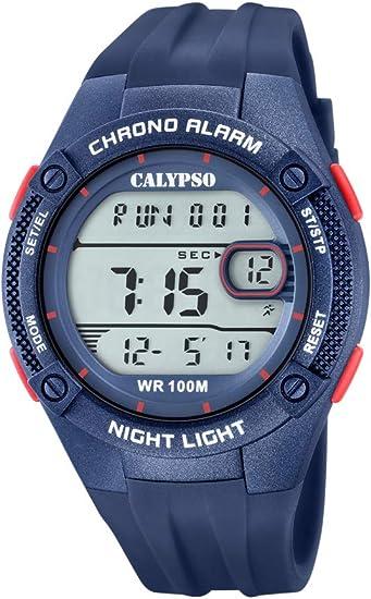 Calypso Watches Reloj Digital para Hombre de Cuarzo con Correa en Plástico K5765/6