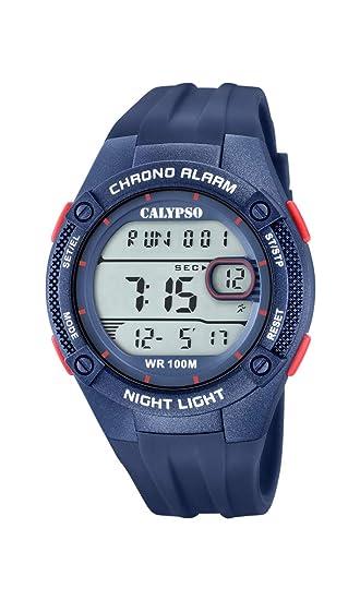 Calypso Watches Reloj Digital para Hombre de Cuarzo con Correa en Plástico K5765/6: Amazon.es: Relojes