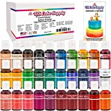30 Color Liqua-Gel Set Includes: Coal Black, Royal Blue, Sky Blue, Buckeye Brown, Fleshtone, Leaf Green, Sunset Orange, Deep Pink, Rose Pink, Super Red, Violet, Lemon Yellow, Burgundy Wine, Fuchsia, Forest Green, Christmas Red, Tulip Red, Golden Yell...