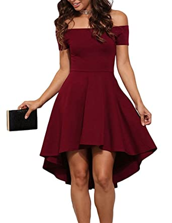 Value Buy Go Go Go Women Fashion Dress Sexy Off The Shoulder Formal Party Cocktail Skater