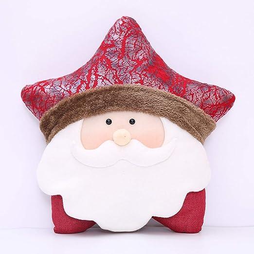 Kongqiabona Creativo Estrella de Navidad Almohada Papá Noel ...