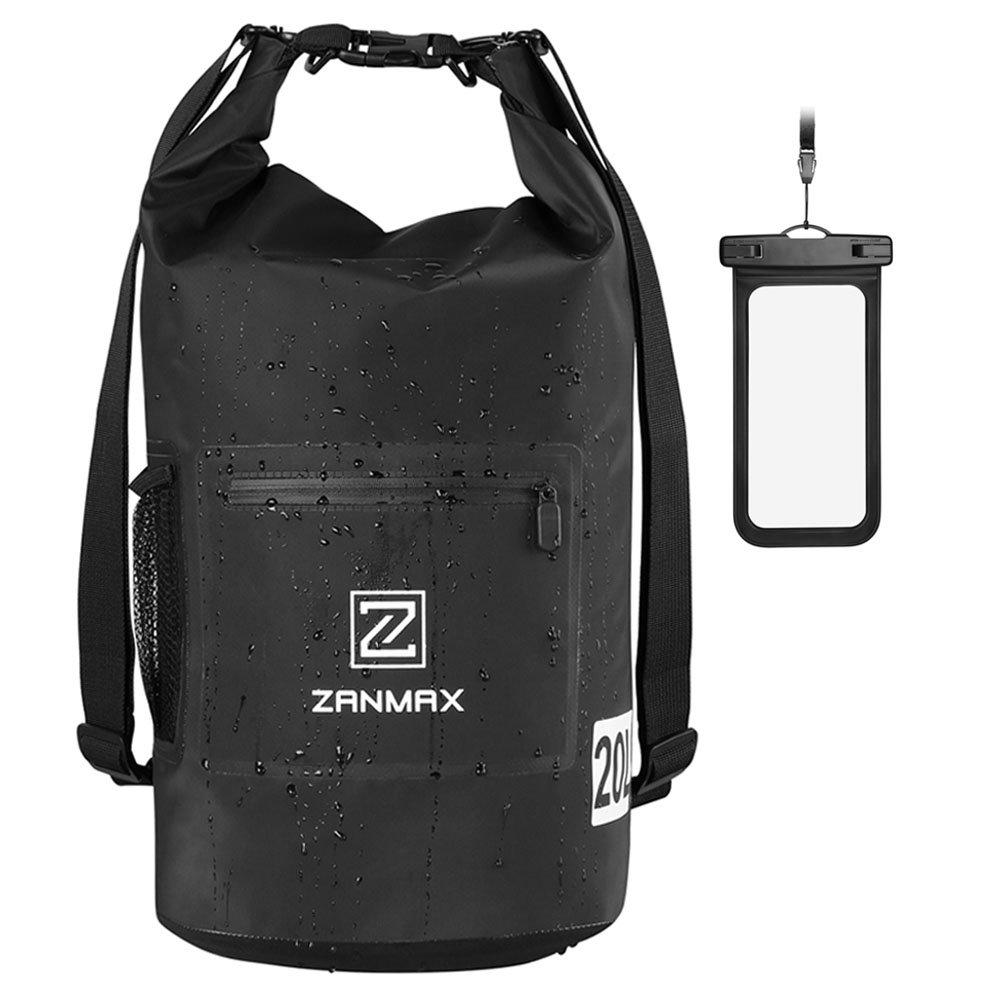 ZANMAX Sac Étanche Dry Bag avec Sac Sec de Téléphone Gratuit et Longue Bandoulière Réglable pour Navigation de Plaisance,Kayak,Pêche, Rafting, Natation,Camping