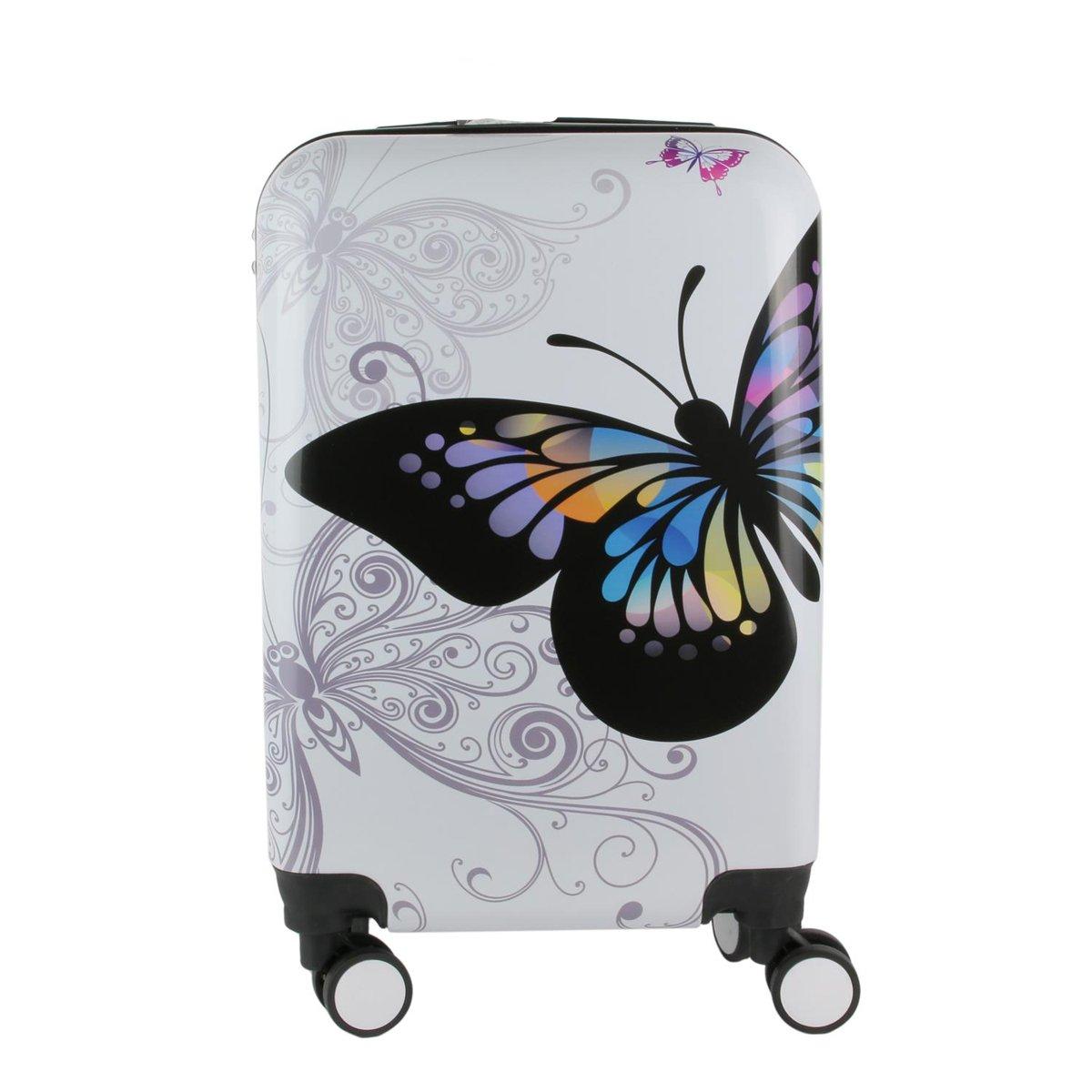 Les Trésors De Lily [Q0792] - Carretilla de abs Papillons blanco multicolor - 50x35x23 cm (48l).: Amazon.es: Equipaje