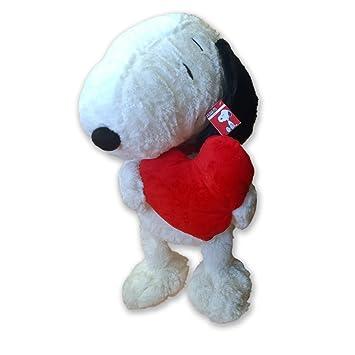 Peanuts – Snoopy de peluche con corazón – 60 cm