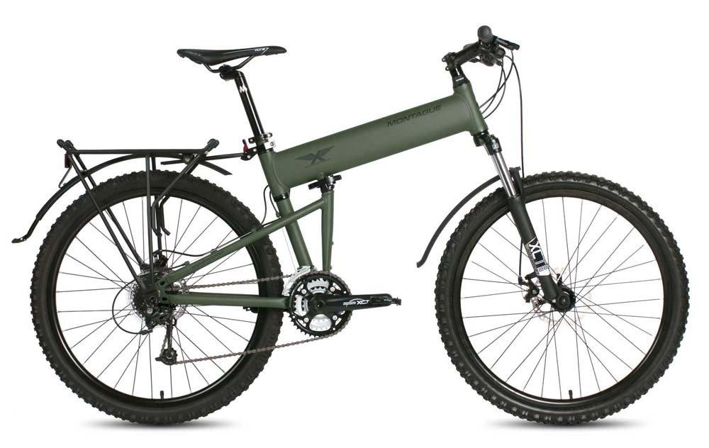 Montague Paratrooper MTB 20'' Cammy Green 24 Speed Folding Mountain Bike