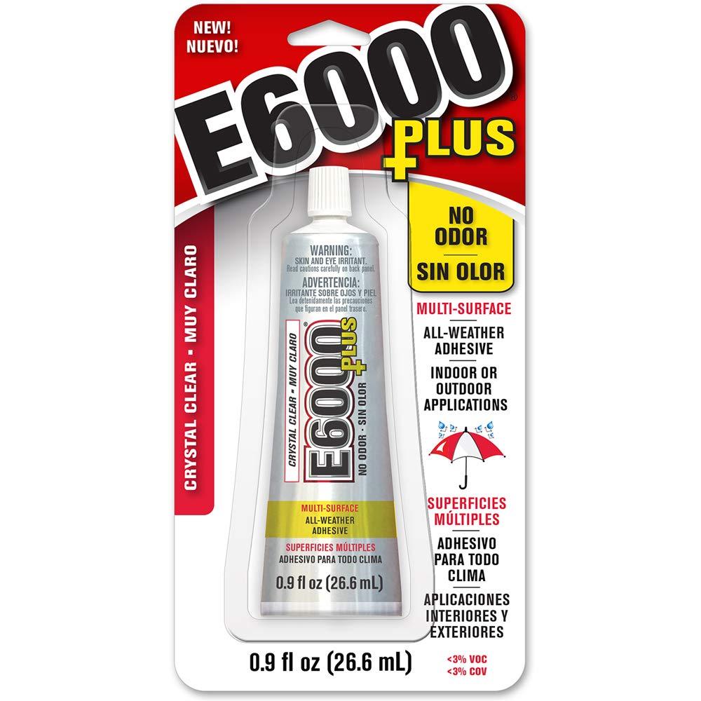 Eclectic 570110, Clear 0.9 Fl Oz E6000+Plus Multipurpose Adhesive-0.9oz