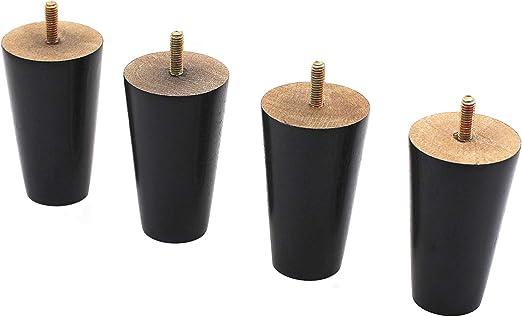 "Round Dark Brown Plastic 3/"" Furniture Legs Sofa Chair Loveseat Ottoman  4 Legs"