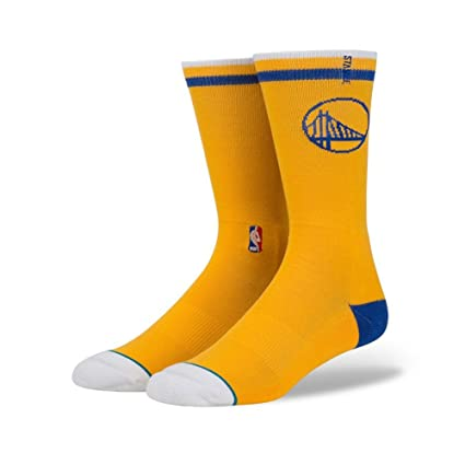 Stance Warriors Arena Logo Yellow L Mens Socks