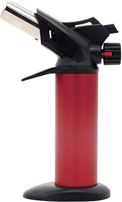 Greenfields® Soplete de cocina para cocinar y bricolaje encendido instantáneo ajustable llama gas butano recargable con bloqueo de seguridad y ...
