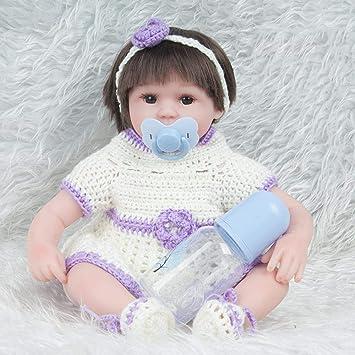 Hongge Reborn Baby Doll,Juguetes de Silicona Realista Reborn muñeca ...
