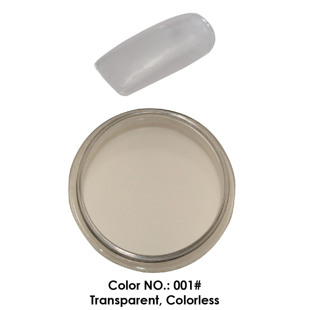 C & I Dipping Powder Color No.001 Transparent Colorless Builder Color System Fulei Trading