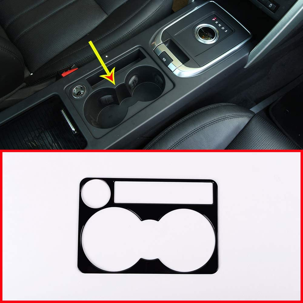 Silver For Discovery Sport Central Console Cup Holder Cover Trim Car Accessories Left Hand Drive