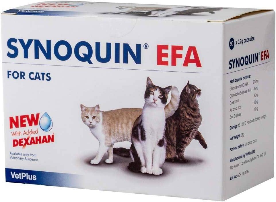VetPlus Synoquin EFA - Complemento Nutricional para la Salud Articular de los Gatos, 90 Cápsulas