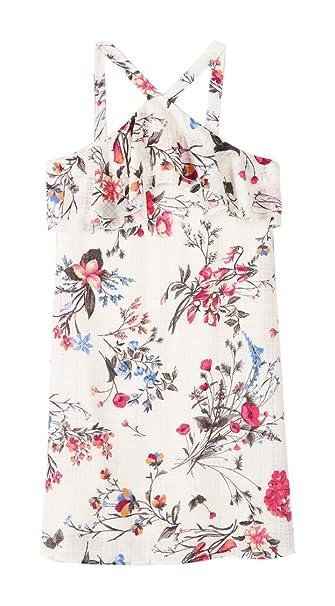 6ba06f7b4fc8 Speechless Girls' Big Floral Print Chiffon Flutter Front Dress, Ivory/Pink,  ...