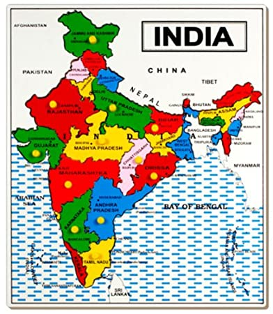 Buy Little Genius Map India Multi Color Large Online At Low - India map