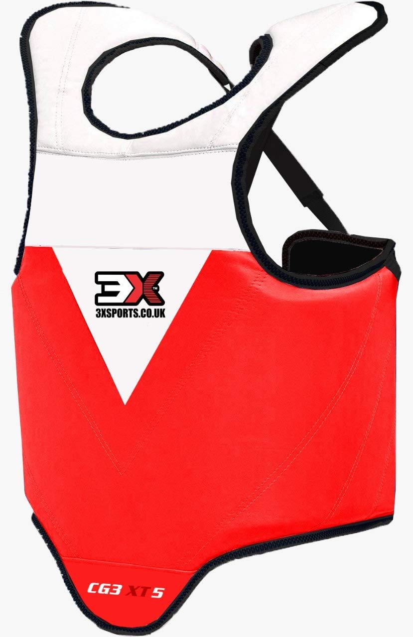 CE Certificado Aprobado Boxeo Protecci/ón De Cuerpo Krav Maga MMA Vientre para Pecho Peto de Entrenamiento Protector Taekwondo Multicolor//tama/ños