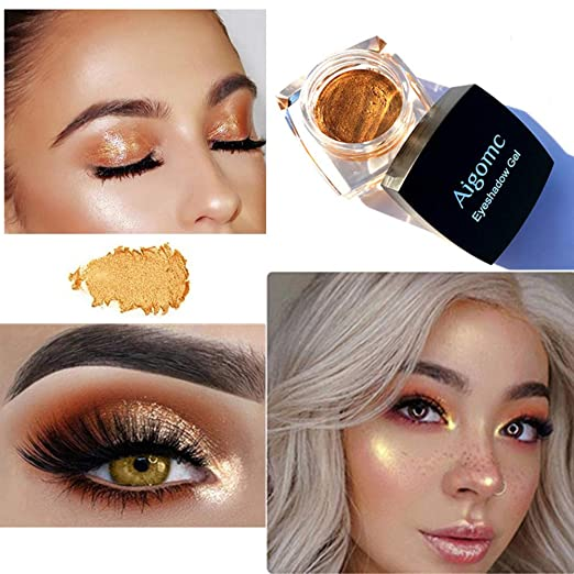 Beauty Essentials 2 In 1 Eye Make Up Face Brighten Highlighter Shining Shimmer Powder Pigment White Blue Pink Eyeshadow Palette 5 Colors Excellent Quality