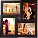 WENS 4-Picture MDF Photo Frame (13.5 inch x 13.5 inch, Brown, WSF-4056)