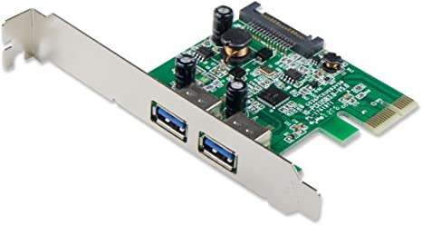 2-Port USB 3.0 Pci-E X1 with 15-Pin SATA Power Connector - Expand Another Two USB 3.0 Ports