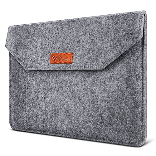 SAVFY Laptophülle 13.3 Zoll Macbook Air Tasche Laptop Tasche iPad Pro Sleeve Case Cover für MacBook Air, MacBook Pro Retina Display Dunkelgrau