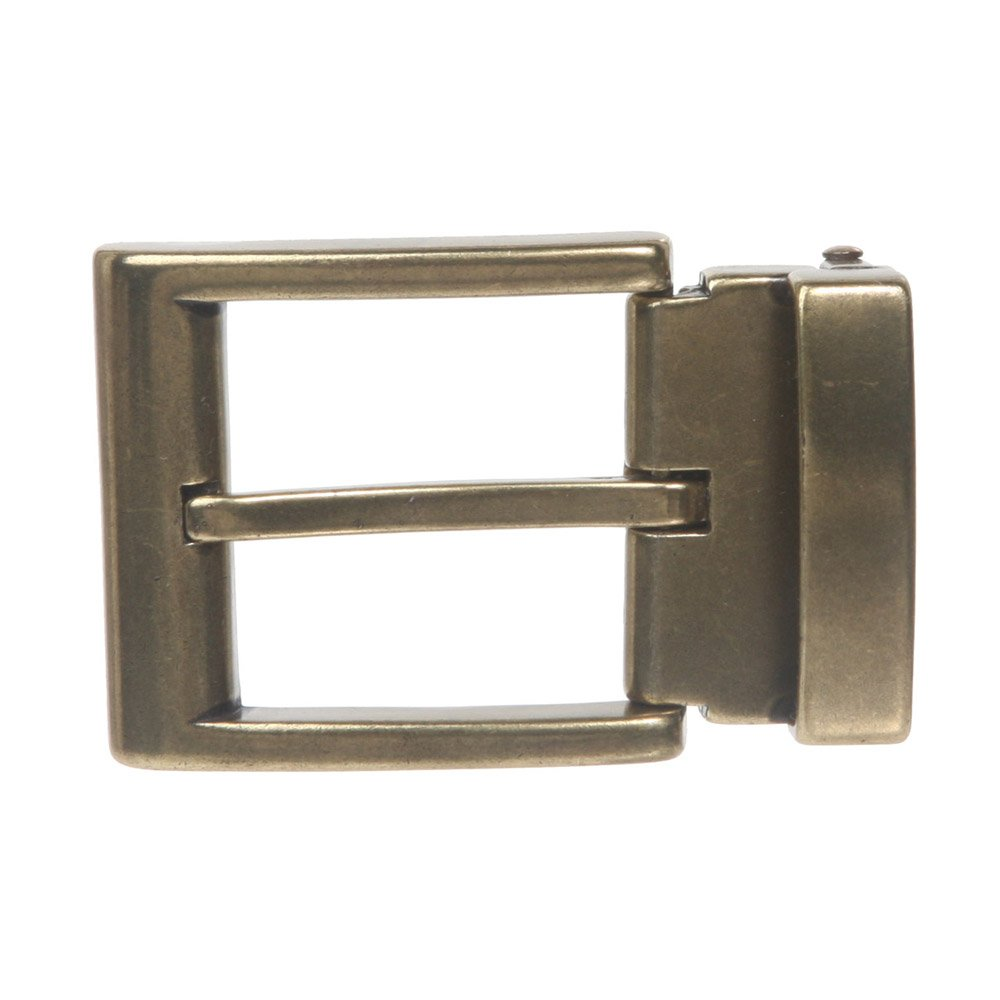 1 1/4 Inch (34 mm) Nickel Free Brass or Gold Clamp Belt Buckle, Brass Beltiscool 1004BK:A00D