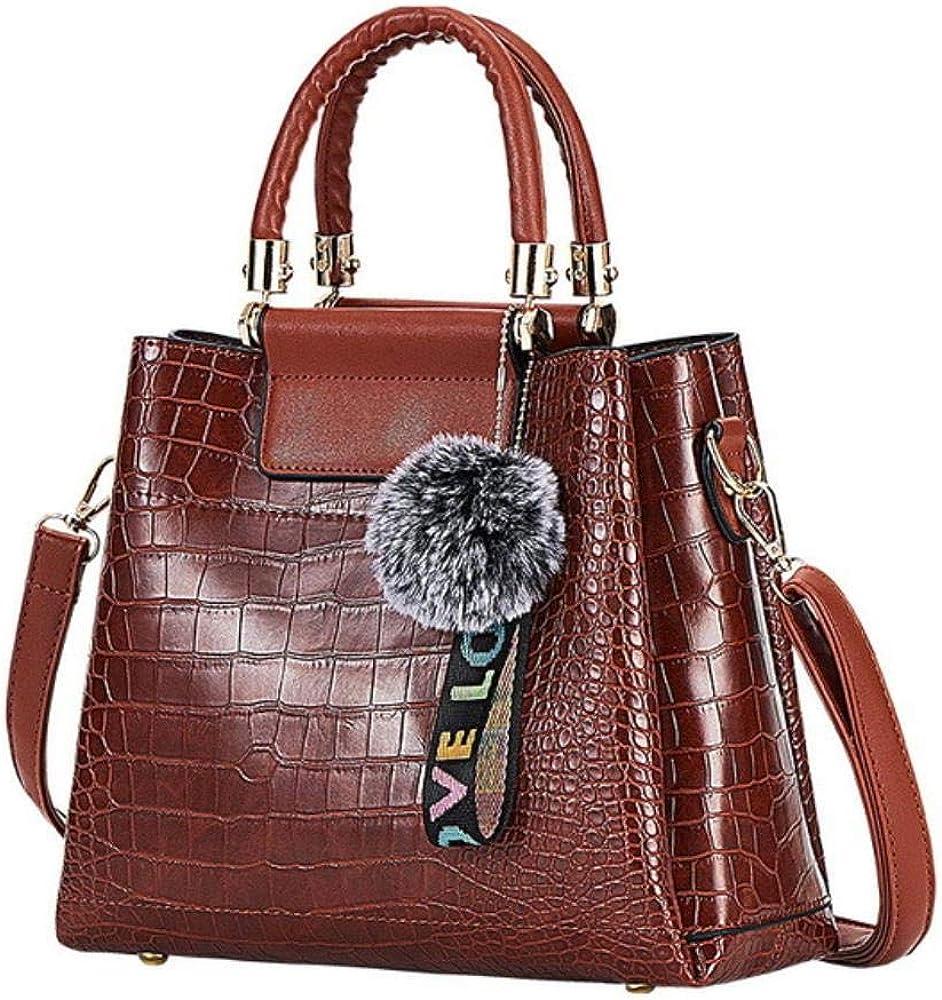 A-Gavvzq 4Ps Bolsos de mujer Set Bolsos de lujo para mujer Bolsos de hombro de cuero de la PU Bolsos compuestos de marca Bolso de mensajero Brown