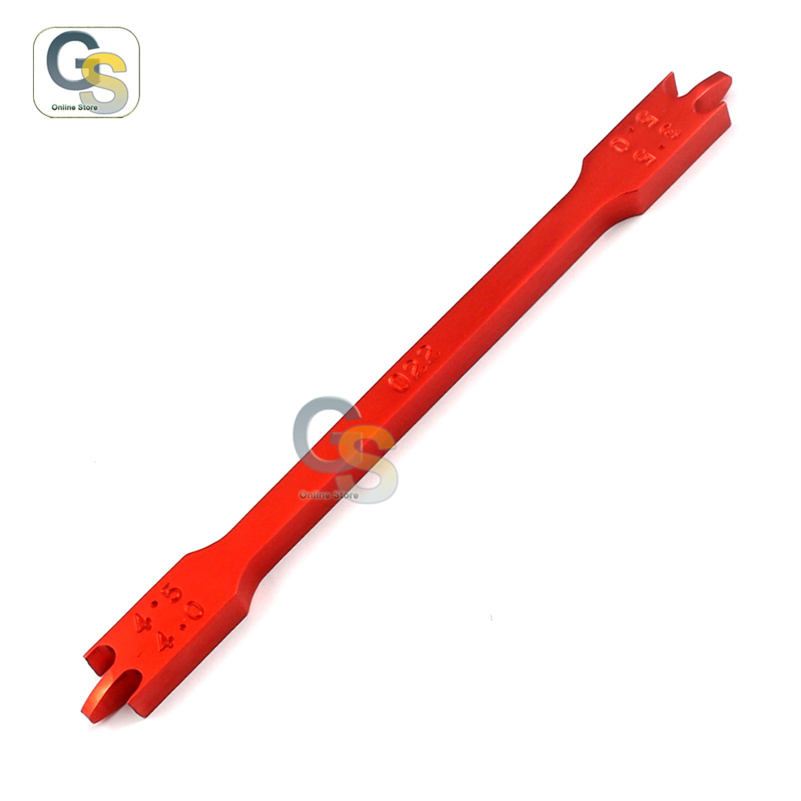 G.S BRACKET HEIGHT GAUGE RED COLOR 3.5MM-5MM022 ORTHODONTIC INSTRUMENTS BEST QUALITY