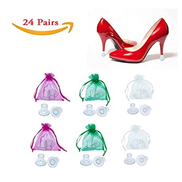 ca583f2fd9c 24 Pairs, Total 48 Caps Heel Stoppers High Heel Protectors for Women's  Shoes, Small/ Middle/ Large,each...