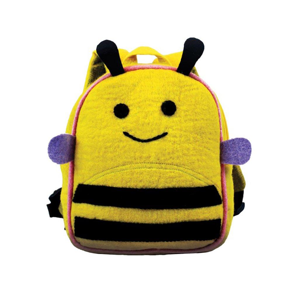 Bamboo Bee Kids Lightweight Animal Backpack, Handmade Bag, 100% Woolen Felt