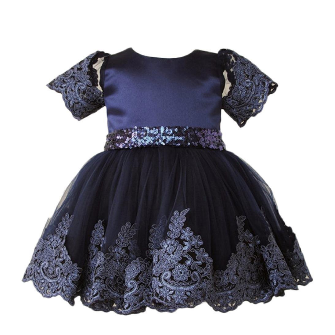 KONFA Teen Toddler Baby Girls Cartoon Striped Pocket Dress,Little Princess Long Sleeve Skirt Pullover Clothes Set