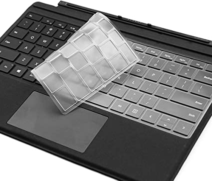 Decal skin-Black ProElife Premium Ultra Thin Silicone Keyboard Cover Skin Type Protector for New Microsoft Surface Go 10-Inch 2018 Released and Surface Go Type Cover