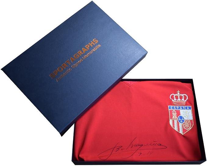 Emilio Butragueno Sportagraphs firmado España Camiseta caja de regalo de autógrafo SCOREDRAW AFTAL COA regalo perfecto: Amazon.es: Deportes y aire libre
