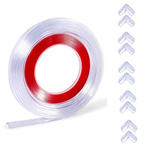 M MAIUS Edge Corner Protector, 20ft Corner Guards Baby Proofing&10 Pack Toddler Corner Protector, Furniture Clear Toddler Edge Protectors Table Corners Protection Child Safety Kit Bumper Strip