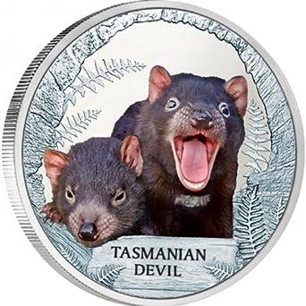 Tuvalu 2013 $1 Endangered and Extinct Tasmanian Devil 1 Oz Silver Proof Coin