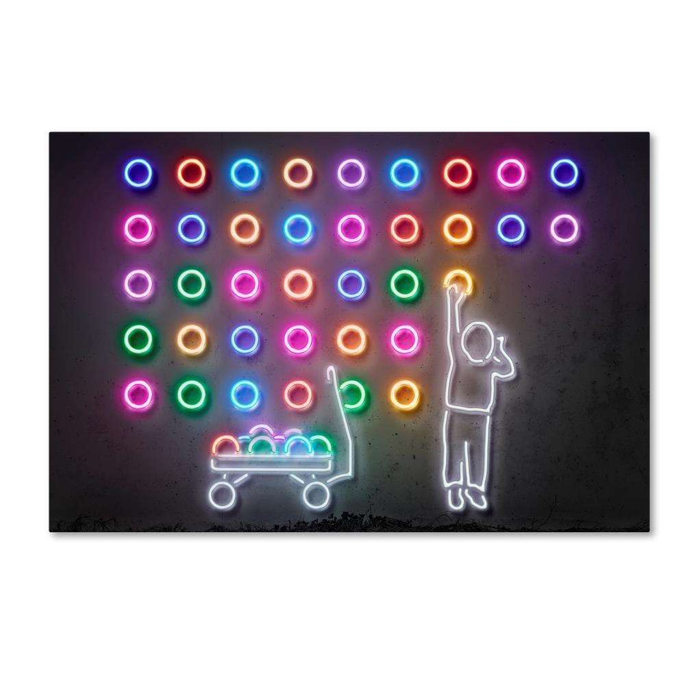 Dots by Octavian Mielu, 22x32-Inch Canvas Wall Art Trademark Global ALI17198-C2232GG