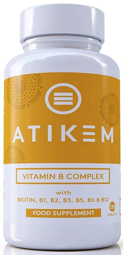 Vitamina B Complex 120 Tabletas - Las 8 vitaminas B Biotina ...